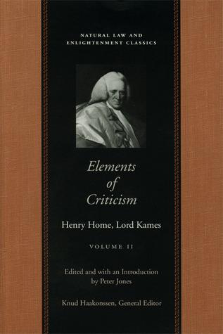 Elements of Criticism: Volume 2 PB