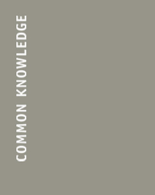 Common Knowledge (Inaugural issue marking return to publication)