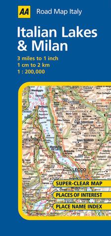 AA Road Map Italy: Italian Lakes & Milan