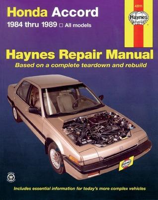 Honda Accord ~ 1984 thru1989, all models