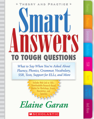 Libro de descarga de iPad Smart Answers to Tough Questions: What Do You Say When You're Asked About Fluency, Phonics, Grammar, Vocabulary, SSR, Tests, Support for ELLs, and More