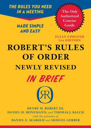 Robert's Rules of Order Newly Revised In Brief, 2nd edition