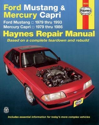 Haynes Ford Mustang (1979-1993) & Mercury Capri (1979-1986) Automotive Repair Manual