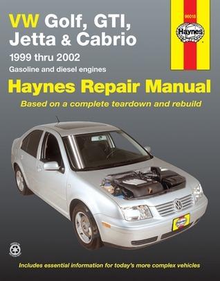 VW Golf, GTI, Jetta and Cabrio, 1999 Thru 2002: Haynes Repair Manual