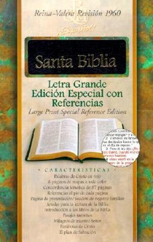 Santa Biblia: Reina-Valera Revision 1960, Letra Grande Edicion Especial Con Referencias, Con Indice, Negro, Piel Fabricada