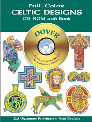 Full-Color Celtic Designs CD-ROM and Book