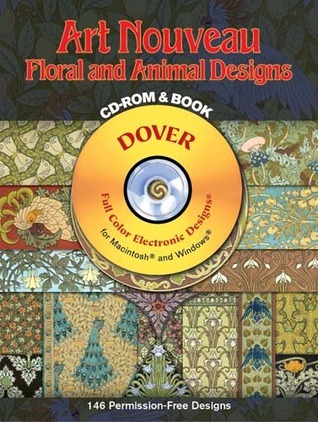 Art Nouveau Floral and Animal Designs CD-ROM and Book