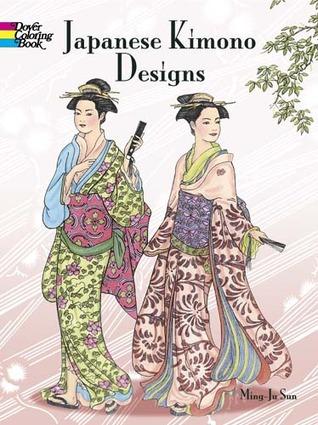 Japanese Kimono Designs Coloring Book By Ming Ju Sun