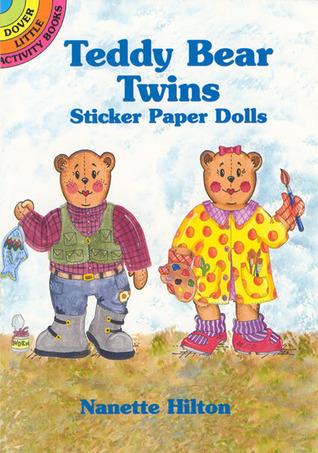 Teddy Bear Twins Sticker Paper Dolls
