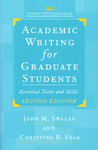 Academic Writing for Graduate Students: Essential Tasks and Skills