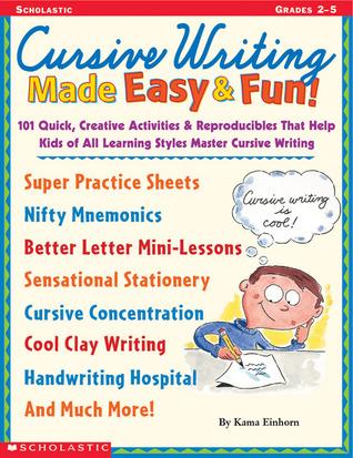 Cursive Writing Made Easy Fun 101 Quick Creative Activities