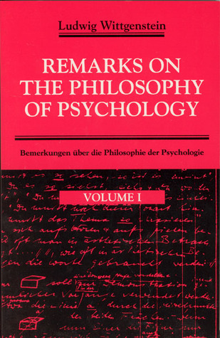 Remarks on the Philosophy of Psychology 1