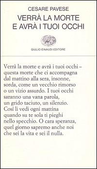 Verrà la morte e avrà i tuoi occhi by Cesare Pavese