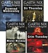 Mister Monday, Grim Tuesday, Drowned Wednesday, and Sir Thursday (The Keys to the Kingdom, #1-4)