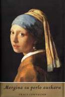 Mergina su perlo auskaru