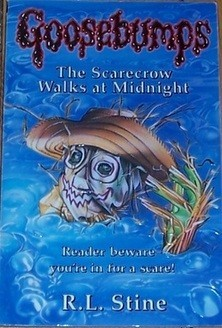the scarecrow walks at midnight I chose this book because it is an award winning series also because rl stine is the best writer of all time dudes rl stine writes these books to inspire children like you and me i love rl stine's books and hope to see new ones this story is about 2 young children named jodie and mark, who.