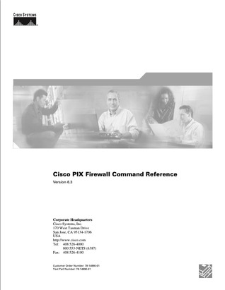 Cisco PIX Firewall Command Reference