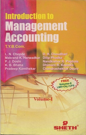Introduction To Management Accounting T.Y. B. Com Volume - I