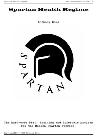 Spartan health regime by anthony bova 1 star ratings 6729933 fandeluxe Image collections