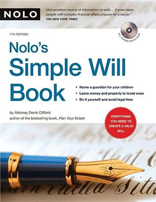 Nolo's Simple Will Book [With CDROM]