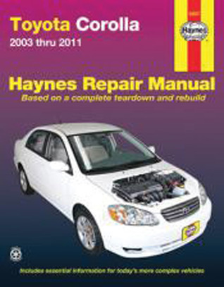 Toyota Corolla: 2003 thru 2011