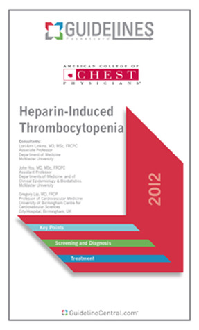 Heparin-Induced Thrombocytopenia GUIDELINES Pocketcard (2012)