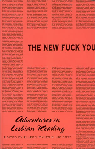 The New Fuck You: Adventures In Lesbian Reading