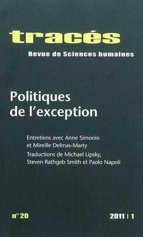 Tracés - Politiques de l'exception