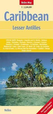 MAP:   Caribbean Lesser Antilles Map by Nelles