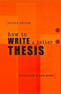 thesis to book