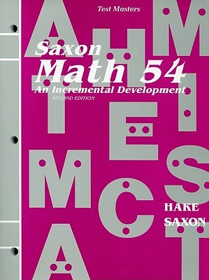 TEST MASTERS Hake Saxon MATH 54 Second Edition