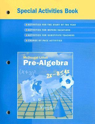 McDougal Littell Pre-Algebra Special Activities Book by McDougal Littell