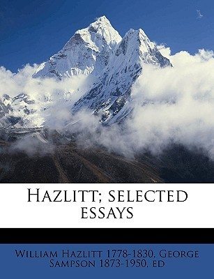 selected essays by william hazlitt