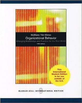 Organizational Behavior by Steven L. McShane