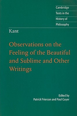 Observations On The Feeling Of Beautiful And Sublime By Immanuel Kant