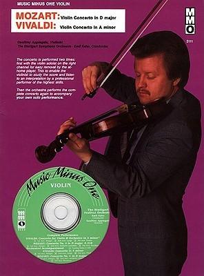 Music Minus One Violin: Mozart Violin Concerto No. 4 in D major, KV218; Vivaldi Concerto in A minor, op.3 no.6 (Book & CD)