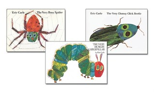 Eric Carle the Very Collection Hardcover Complete Set: Busy Spider, Clumsy Click Beetle, Hungry Caterpillar, Lonely Firefly, Quiet Cricket