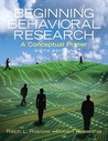 Beginning Behavioral Research: A Conceptual Primer- (Value Pack W/Mysearchlab)