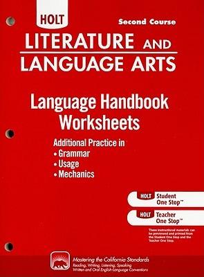 Holt Literature and Language Arts: Language Handbook Worksheets Grade 8