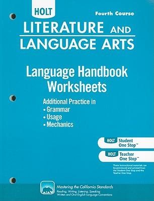 Holt Literature and Language Arts: Language Handbook Worksheets Grade 10