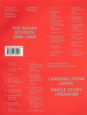 The SANAA Studios: Learning from Japan: Single Story Urbanism