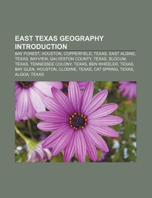 East Texas Geography Introduction: Bay Forest, Houston, Copperfield, Texas, East Aldine, Texas, Bayview, Galveston County, Texas, Slocum, Texas