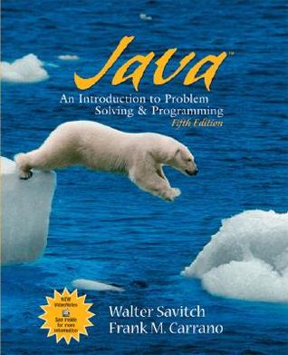 Java an introduction to problem solving and programming by walter j java an introduction to problem solving and programming by walter j savitch fandeluxe Choice Image