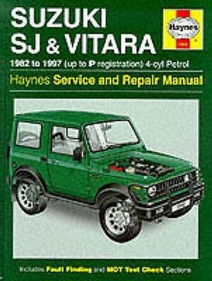 Suzuki Sj410/Sj413 (82 97) And Vitara Service And Repair Manual (Haynes Service & Repair Manuals)