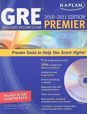 Kaplan GRE Exam 2010-2011 Premier with CD-ROM
