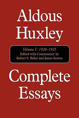 Complete Essays 1, 1920-25