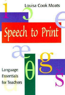 Speech to Print: Language Essentials for Teachers Sample Exercise