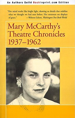 Mary McCarthy's Theatre Chronicles: 1937-1962