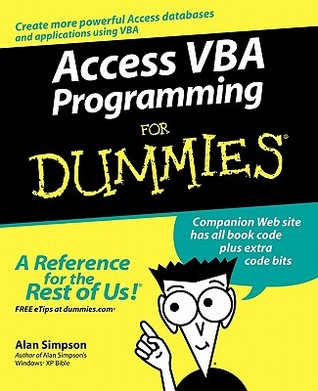 Access VBA Programming for Dummies