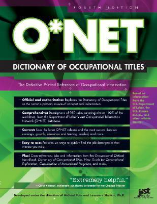 O* Net Dictionary of Occupational Titles